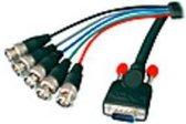 LINDY 31562 VGA Aansluitkabel [1x VGA-stekker - 5x BNC-stekker] Zwart 1.80 m