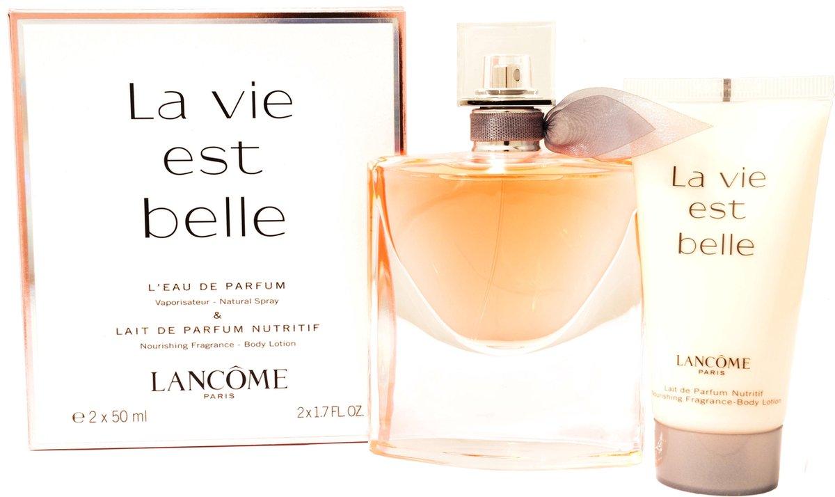 Lanc me La Vie Est Belle Geschenkset - 50ml Eau de Parfum + 50ml bodylotion