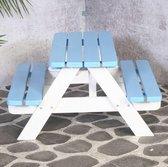 SenS-Line - Kindertafel Mickey Blauw/Wit - Picknicktafel Voor buiten - FSC 100 % Grenenhout- L 90 x B 90 x H 55 cm