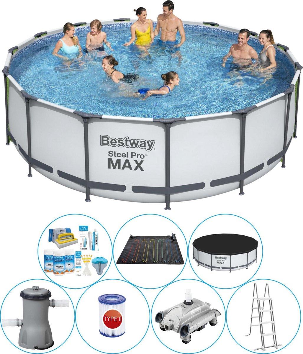 Bestway Steel Pro MAX Rond 457x122 cm - Zwembad Inclusief Accessoires