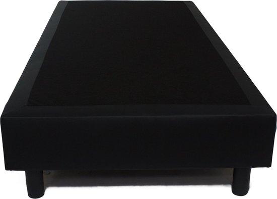 Boxspring 90x200 Skai zwart anti-allergische harde box - Bedworld Collection