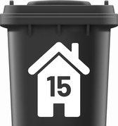 Container stickers huisnummer WIT | Kliko sticker voordeelset | Cijfer stickers weerbestendige 1234567890 | containerstickers |