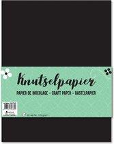 Knutselpapier  A4 Papier Zwart 60 Vellen 120 GR