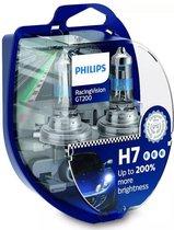 Philips Reservelampen Auto H7 Racing Vision 55w 12v 2 Stuks - Zilver   Transparant