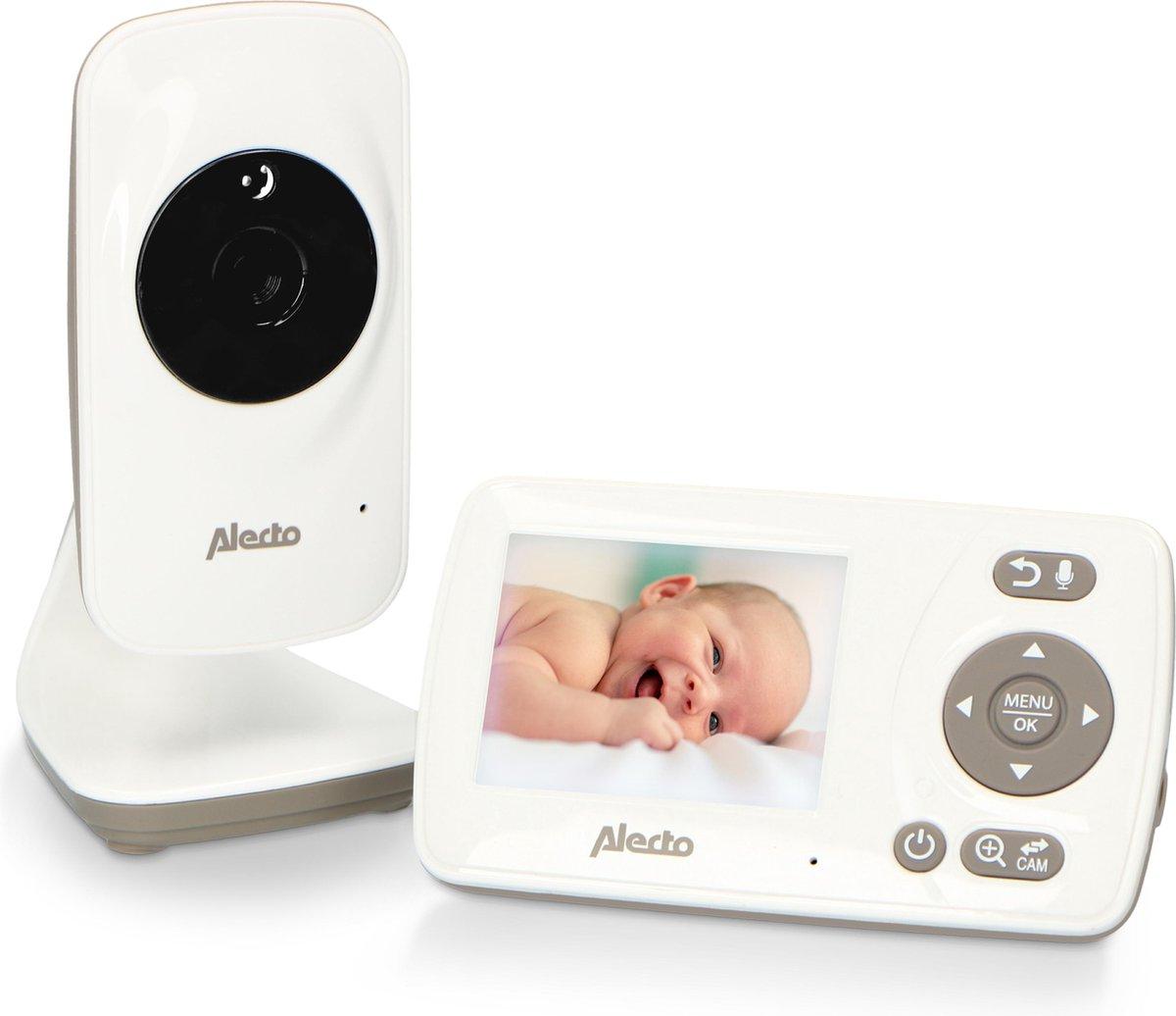 """Alecto Baby DVM-71 Babyfoon met camera en 2.4"""" scherm - Uitbreidbaar tot 4 camera's - Temperatuursen"""