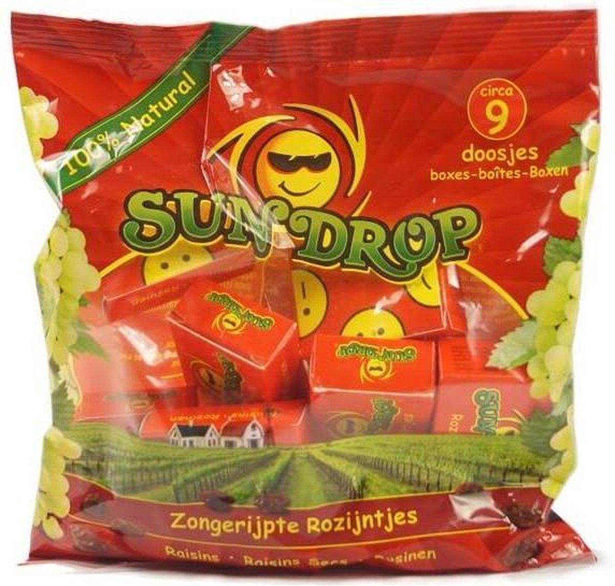 Rozijnen snoepdoosjes Sundrop - Zak 126 gram