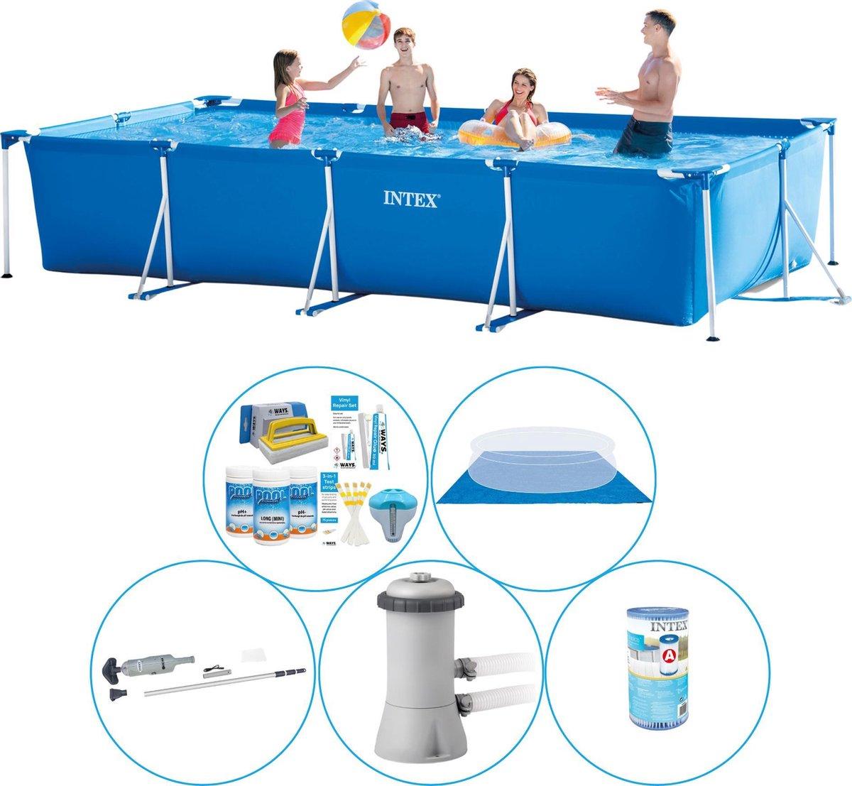 Zwembad Super Deal - 6-delig - Intex Frame Pool Rechthoekig 450x220x84 cm