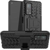 Xiaomi Mi 10T Pro 5G Hoesje - Rugged Kickstand - Zwart