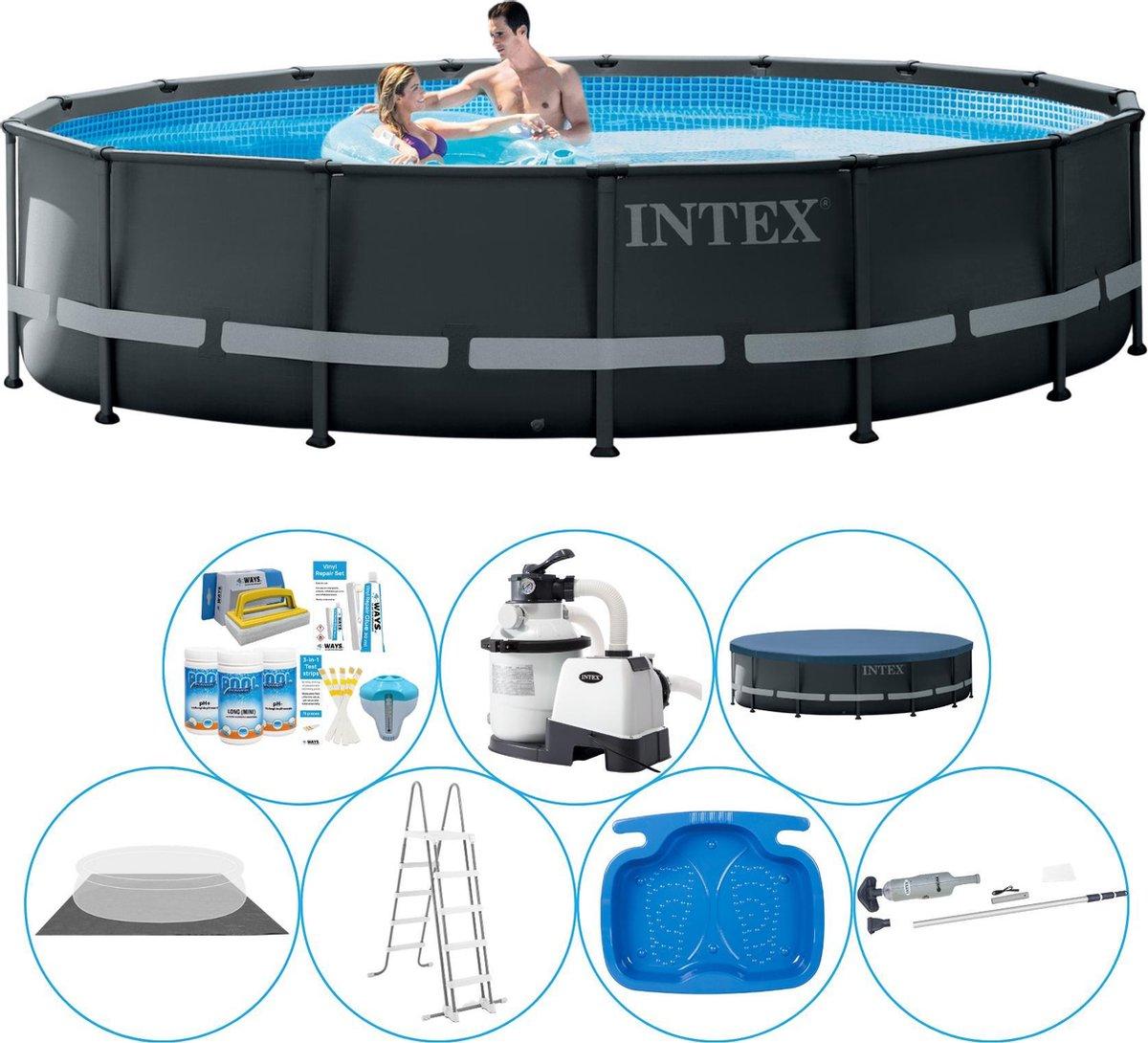 Intex Ultra XTR Frame Rond 488x122 cm - Zwembad Super Deal
