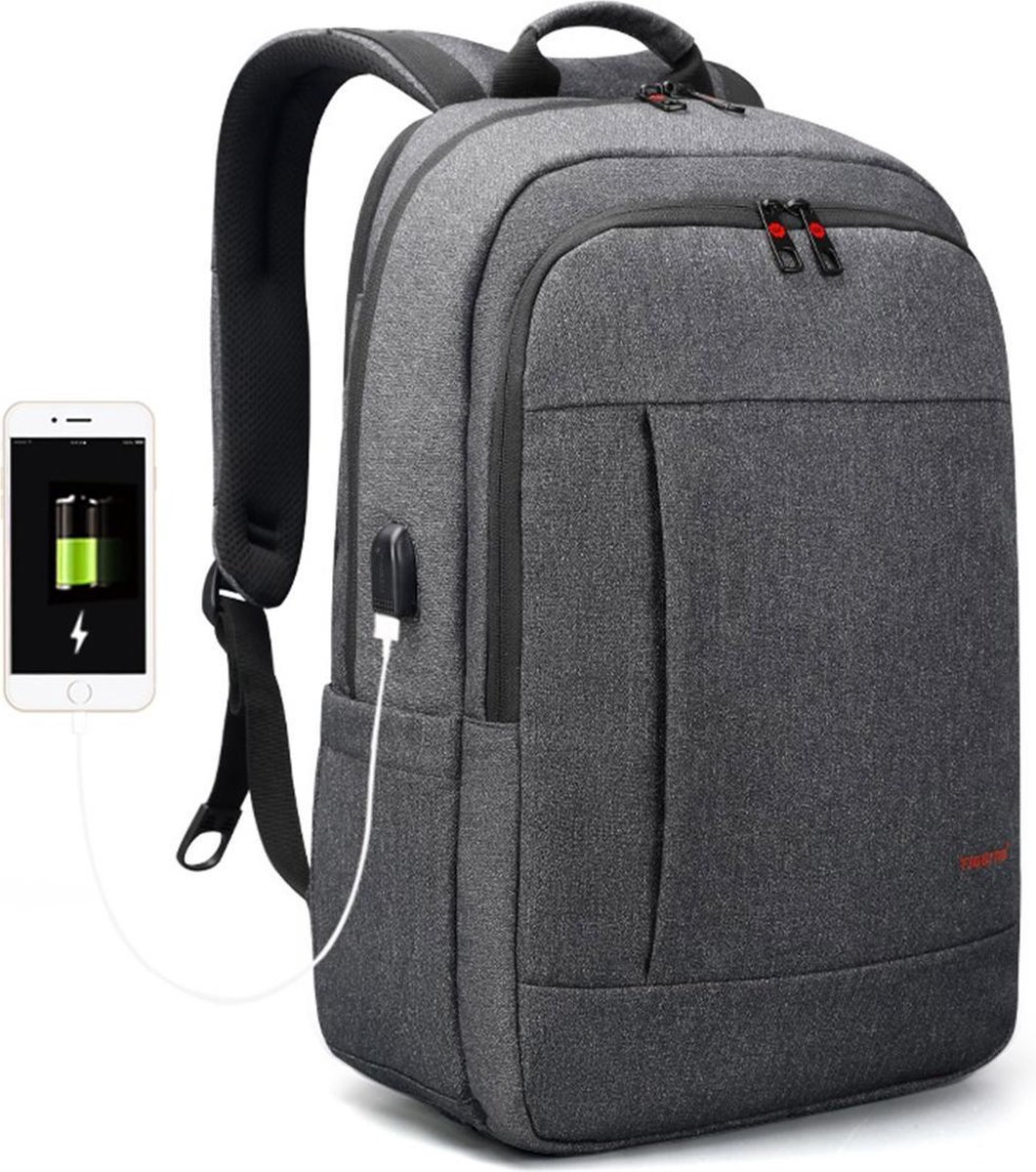 Tigernu Business II laptop rugzak - anti diefstal rugzak - t/m 17 inch - waterafstotend - grijs