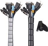 kabelbeschermer -ZINAPS Universal Cable Tidy mouwen, Flexibele Kabel Tidy / Cable Organizer, Cable Protection System voor TV, Computer, Home Cinema
