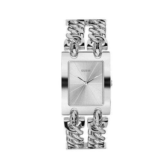 GUESS Watches – W1117L1 – dameshorloge – heavy metal – RVS – Zilverkleurig – 30 mm