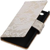 Lace Bookstyle Hoes voor Sony Xperia Z4 Compact Wit