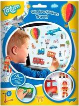 Auto raamstickers verkeer / reizen thema 55 stuks - in de auto op reis voor kinderen autoraam plakstickers