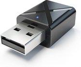 Bluetooth 5.0 Zender en Ontvanger 2-in-1 USB - Ber