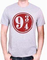 HARRY POTTER - T-Shirt 9 3/4 - Grey (XL)
