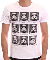 STAR WARS - T-Shirt Troopers Emotions - White (S)