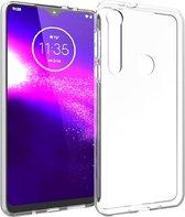 Accezz Clear Backcover Motorola One Macro hoesje - Transparant