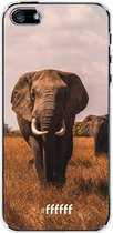 iPhone SE (2020) Hoesje Transparant TPU Case - Elephants #ffffff