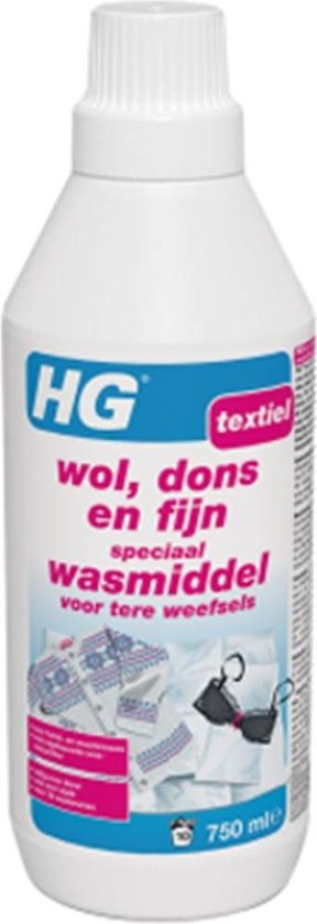 HG wol, dons en fijn wasmiddel - 750ml - goed voor 10 wasbeurten