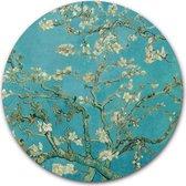 Wandcirkel Amandelbloesem | Meesterwerk van Vincent van Gogh | Aluminium 120 cm | Ronde kunstwerken en schilderijen | Wanddecoratie voor binnen en buiten | Muurcirkel Oude Meesters op Dibond