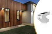 Solar LED Buitenlamp | Wandlamp met Bewegingssensor | Draaibaar | Beveiligingslamp | Zwart | Zonne-energie | Draadloos | Waterdicht | 131 x 97 x 94 mm