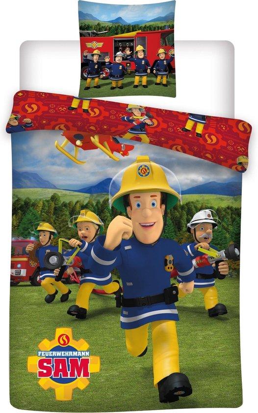 Brandweerman Sam Dekbedovertrek Crew - 140 x 200 cm - Polyester