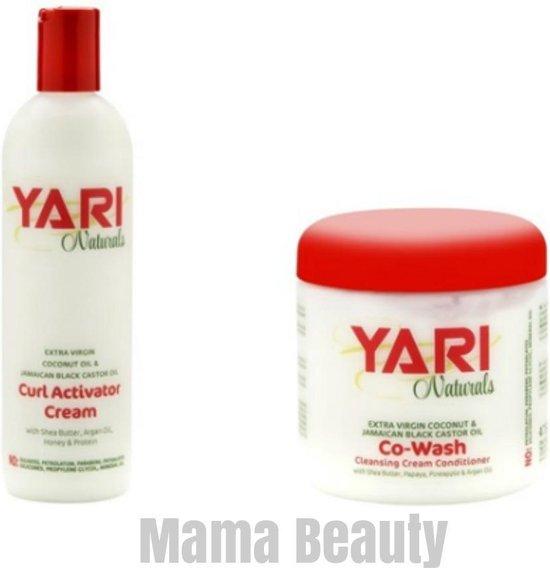 Yari Naturals Co-Wash + Naturals Curl Activator Cream set
