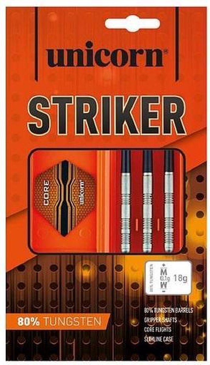 Unicorn Striker Dartpijlen Steeltip 21g 80% Tungsten Oranje