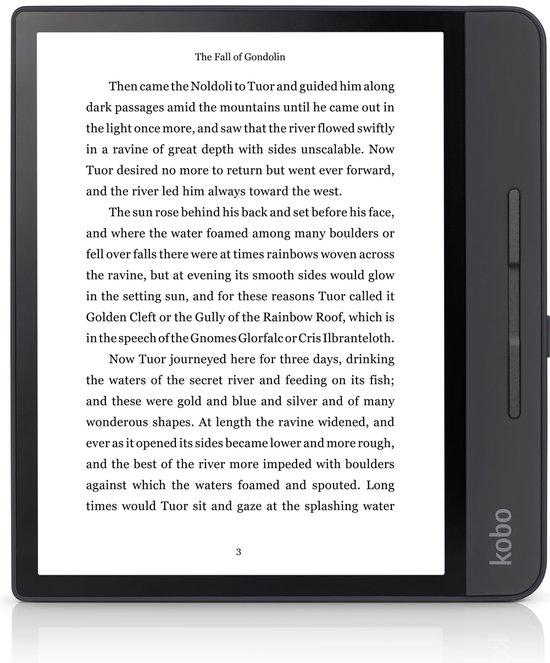 Forma e-reader - Waterdicht - Grote 8 inch scherm - Instelbaar warme kleur - 8GB - Wifi - Zwart