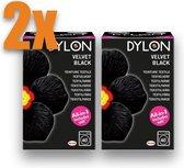 Textielverf Dylon zwart Velvet Black 350g all-in (zout) VOORDEELPACK 2 STUKS !