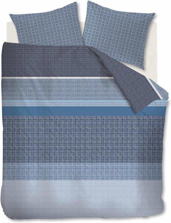 Beddinghouse Dekbedovertrek Birger Blauw Lits-jumeaux