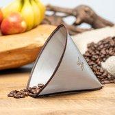 Permanent - Herbruikbaar - Koffie Filter - RVS gaas - Geschikt voor 6-8-10 kops Chemex
