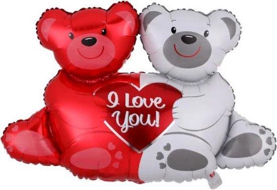 Love Beertjes Folieballon   I Love You Ballon   Hartjes Helium Ballon   Liefdes Ballon   Love Decoratie