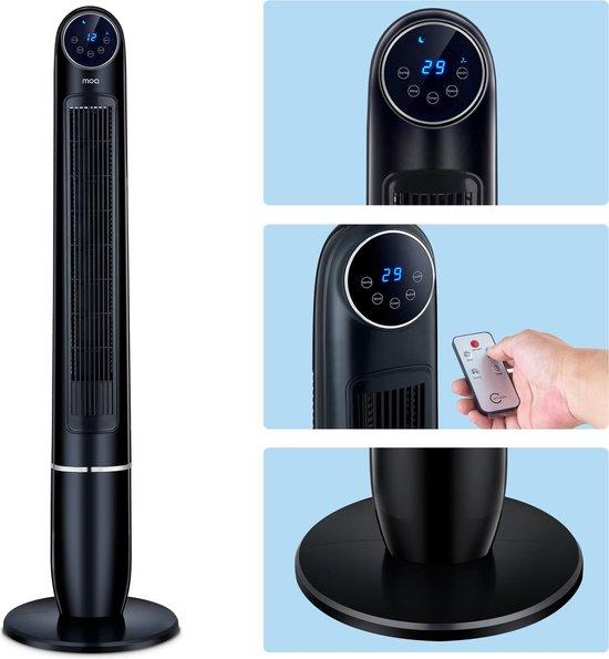 MOA Torenventilator Zwart - Luchtkoeler - Aircooler - Ventilator staand - Tower Fan - TF1B