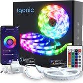 iqonic® Smart WiFi LED-strip - 10m (2x5m)- Incl. app - RGB - Afstandsbediening