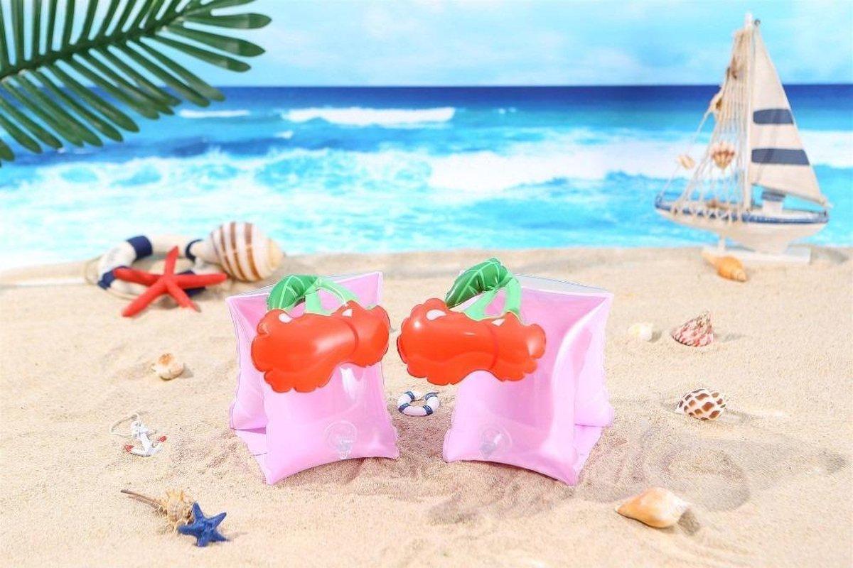 Nieuwste 3D Zwembandjes - Kersen - Baby - 1 Jaar - 2 Jaar - 3 Jaar - Jongens en Meisjes - Zwemvleugels