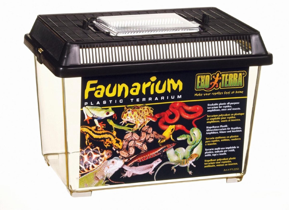 Exo Terra Terrarium Faunarium S Zwart 23x15.5x17 cm