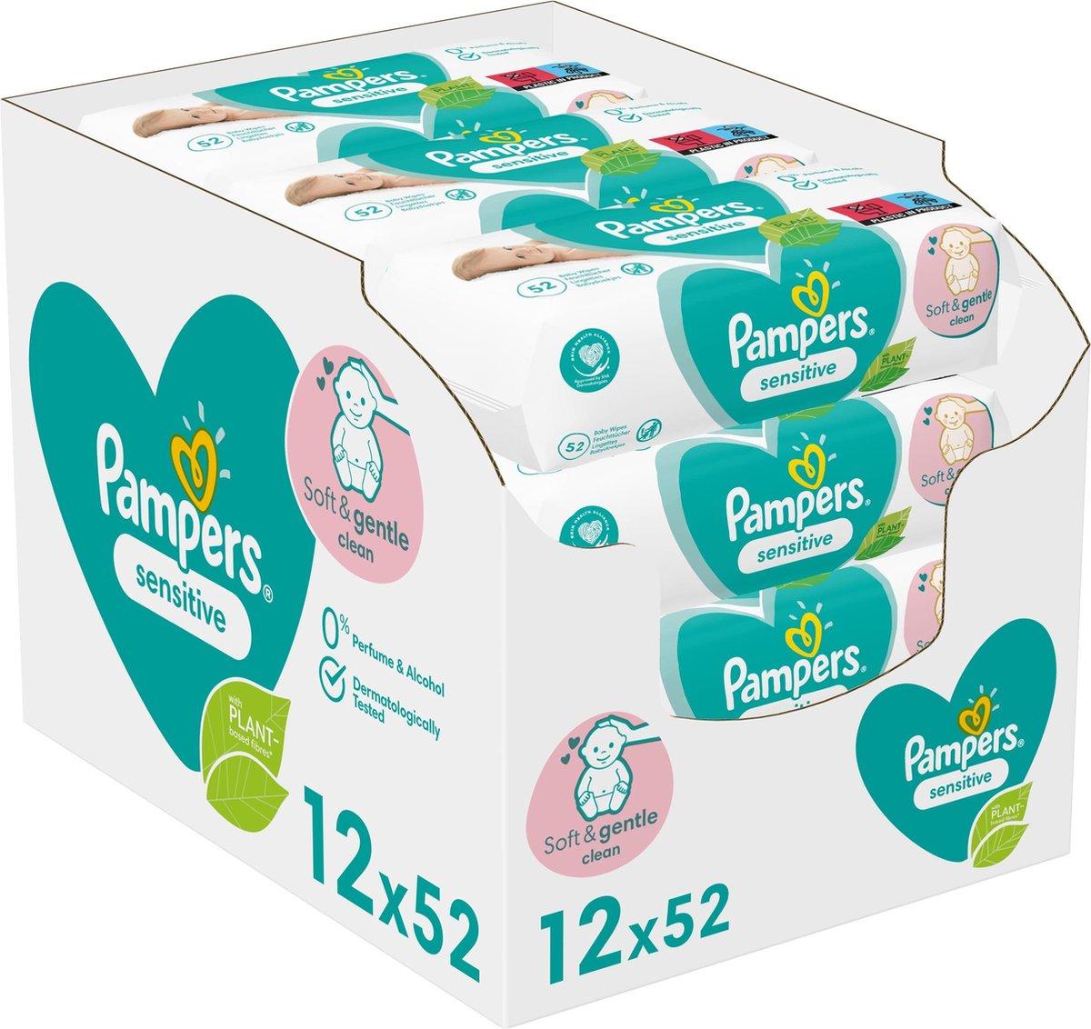 Pampers Sensitive Billendoekjes - 1200 stuks