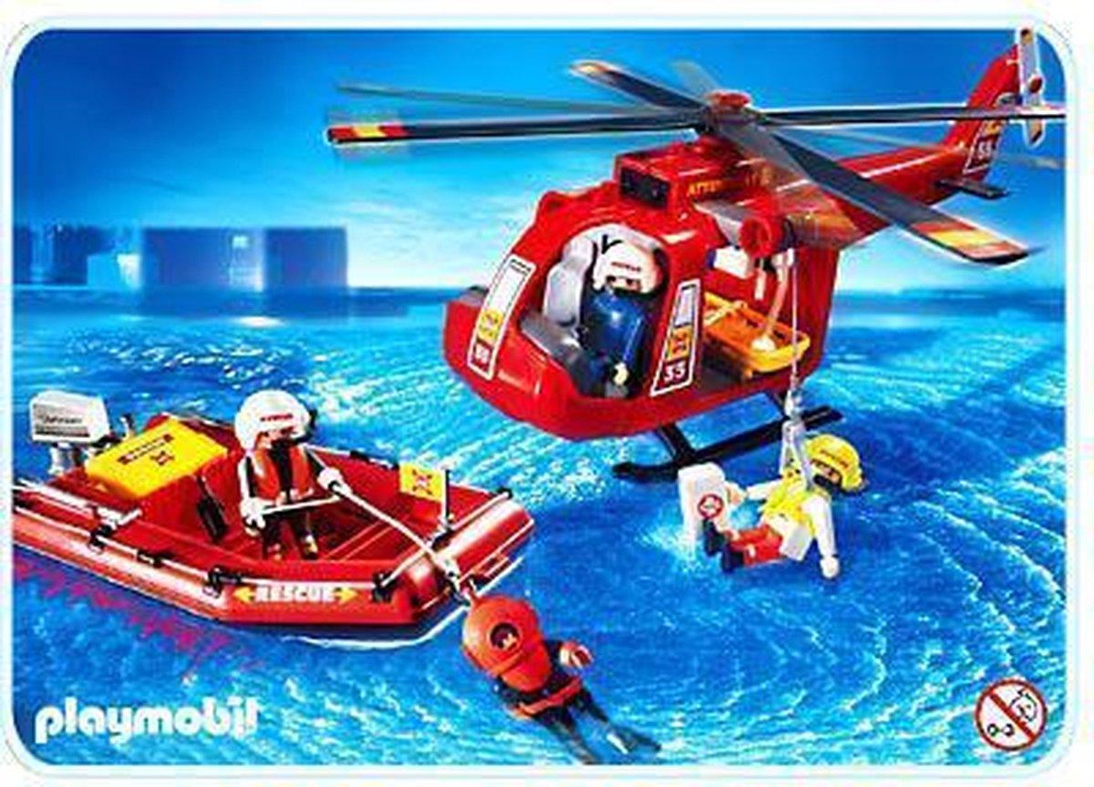 PLAYMOBIL Reddingshelikopter en boot - 4428