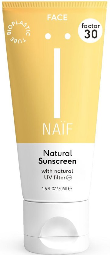 Naïf Natuurlijke Zonnebrandcrème factor 30 – voor het gezicht - 50ml