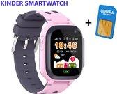 Kinder Smartwatch inclusief Simkaart - Kinder Horloge - Roze - LBS Tracking - Meisje - One Size