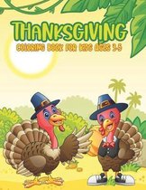 Thanksgiving Coloring Book For Kids Ages 3-5