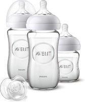 Philips Avent Glazen starterset voor pasgeborenen 1x120 ml + 2x240 ml