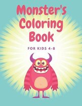 Monster's Coloring Book For Kids 4-8