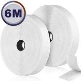 AWEMOZ® Klittenband Zelfklevend - Witte Velcro - Klussen - 2 x 6 m Velcro Tape - 2 cm breed