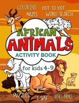 African Animals Activity Book for Kids 4-9