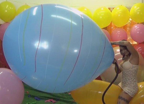 Zuid Amerikaanse 40 inch - 1 meter+ reuze ballon met streep - 100 cm+ - grote ballonnen