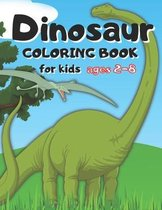 Dinosaur coloring book for kids ages 2-8