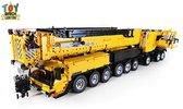 V2 LIEBHERR LTM 1750 - 9.1 GEEL Telekraan Hijskraan VERSION 2 - Technisch Bouwpakket van Toy Brick Lighting® - 7768 Bouwstenen